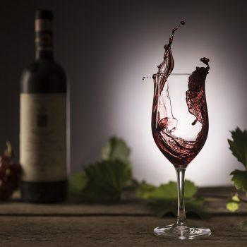 Wein Weinglas Splash