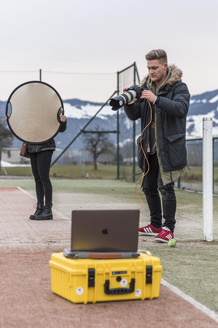 Julian Pawlowski beim Fotoshooting in Friedrichshafen